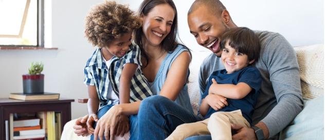 Family having fun at home @istock.com/Ridofranz
